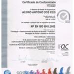 Certificação da Empresa pela Norma NP EN ISO 9001:2008